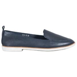 Mazaro Mørkeblå læder loafers