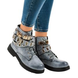 Blåisolerede flade støvler B2878-KB