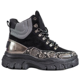 Snøre-VICES-støvler sort