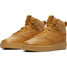 Nike Court Borough Mid 2 Boot Jr BQ5440-700 sko brun