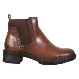 Filippo Brun ankelstøvler med Eco læder