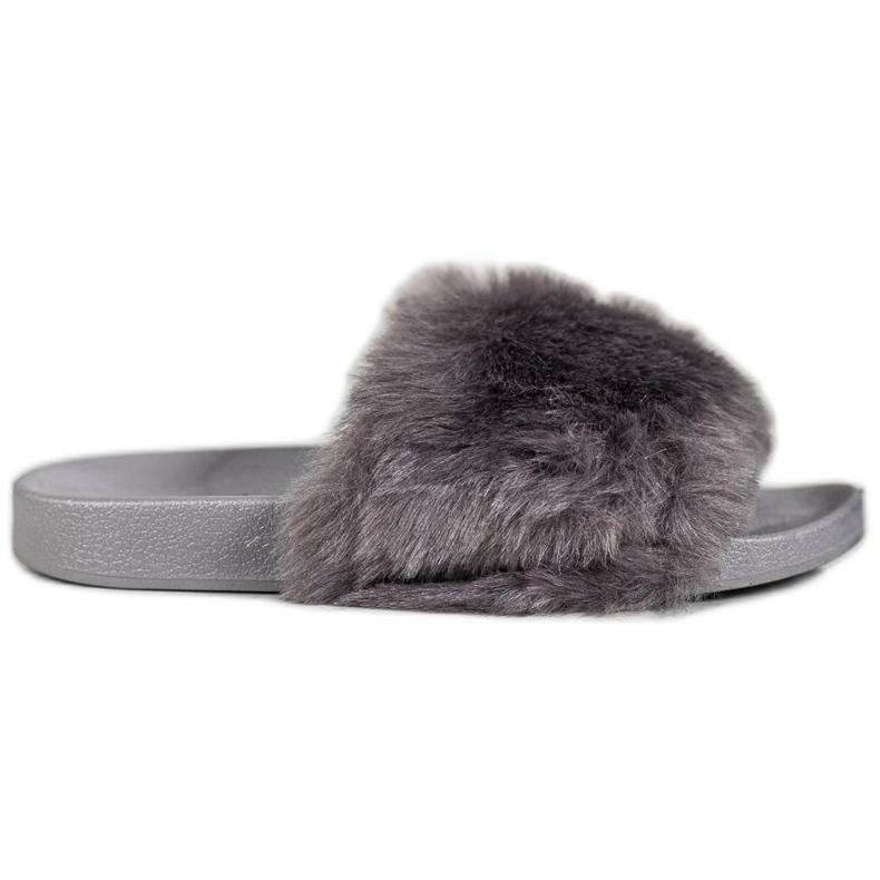 Bona Tøfler Med Fur grå