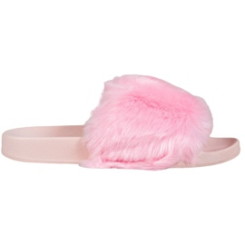 Bona Tøfler Med Fur pink