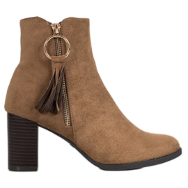 Filippo Stilfuld Suede Booties brun