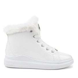 Lakerede termiske hvide sneakers TL135-9