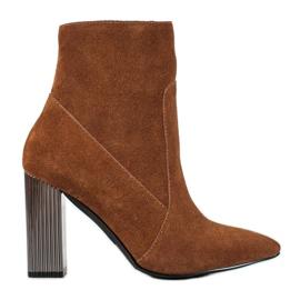 Goodin Sexede læderstøvler brun