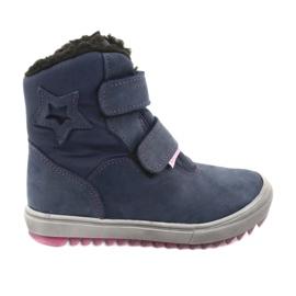 Støvler med en membran Mazurek 1352 marineblå