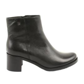 Arka 7387 høje hæle i læder sort
