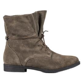 Filippo Klassiske læderstøvler grå
