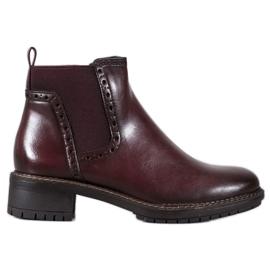 Filippo Bourgogne ankelstøvler med Eco læder rød