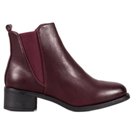 Ideal Shoes Klassiske støvler med elastisk bånd rød