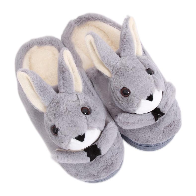 Grå hjemmesko kaniner MA17 Grå