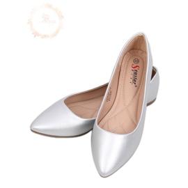 Mandel sølv ballerinaer tæer CD52P Sølv grå