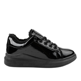 Sort isolerede sneakers TL140-1