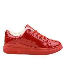 Røde isolerede sneakers TL140-3