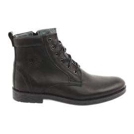 Høje støvler med lynlås Riko 884 sort