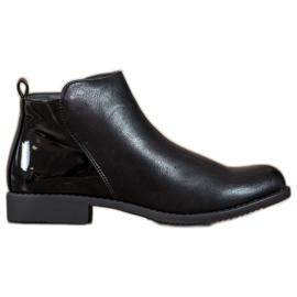 J. Star Støvler på flad hæl sort