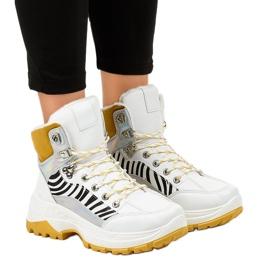 Hvide kvinder isolerede sneakers F-19208-2