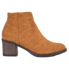 Kylie Camel støvler på en bar brun