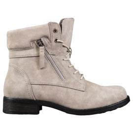 Goodin Beige støvler brun