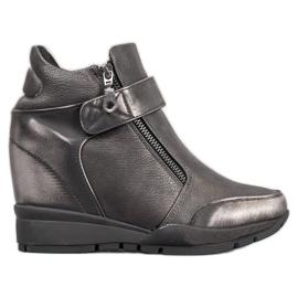 Sergio Leone Sneakers på lynlås grå