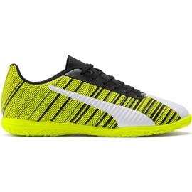 Puma One 5.4 It M 105654 04 fodboldstøvler gul hvid, sort, gul