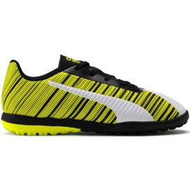 Puma One 5.4 Tt Jr 105662 03 fodboldsko hvid, sort, gul gul