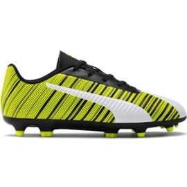 Puma One 5.4 Fg Ag Jr 105660 03 fodboldsko hvid, sort, gul gul
