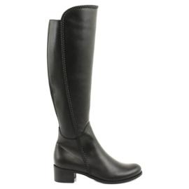 Lange støvler med en fletning Espinto 194 Darex sort
