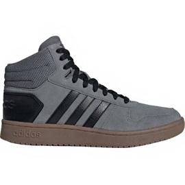 Adidas Hoops 2.0 Mid M EE7367 sko grå