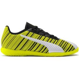 Puma One 5.4 It Jr 105664 04 fodboldstøvler hvid, sort, gul gul