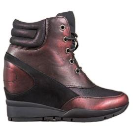 Sergio Leone Burgund Sneakers rød