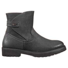 Sergio Leone Komfortable sort ankelstøvler