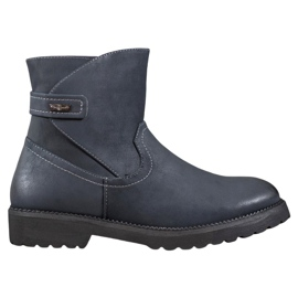 Sergio Leone Komfortable marineblå støvler
