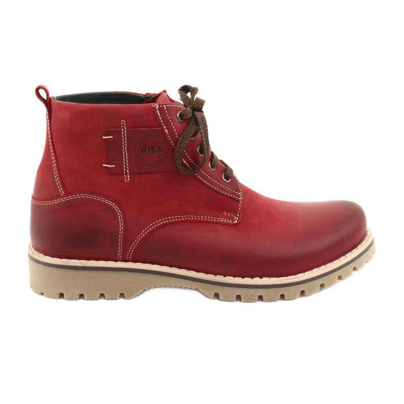 Riko 888 snøre vinterstøvler rød