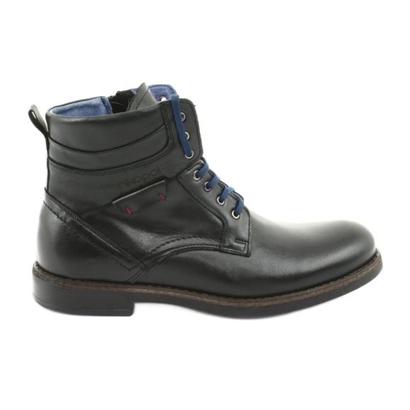 Nikopol 700 lynlås-sorte støvler