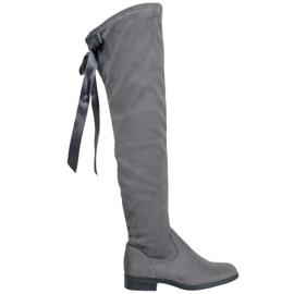 Seastar Stilfulde lårhøje støvler grå