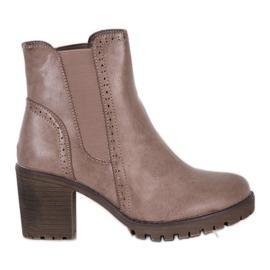 J. Star Slip-on platform støvler brun