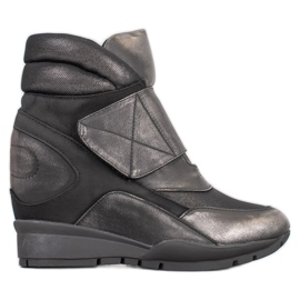 Sergio Leone Velcro sneakers grå