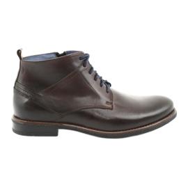 Nikopol 702 læder lynlåsstøvler brun