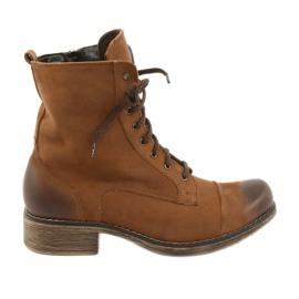 Arbejderstøvler med lynlås Angello 2065 brun