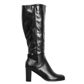 VINCEZA Eco Leather Boots sort