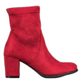SHELOVET Røde støvle-støvler
