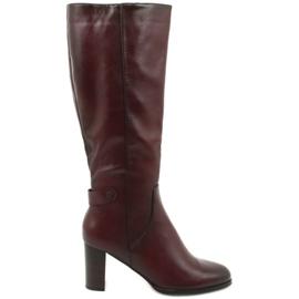 VINCEZA Eco Leather Boots rød