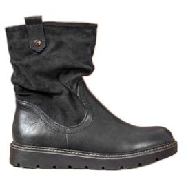 Ideal Shoes Platformarbejdere sort