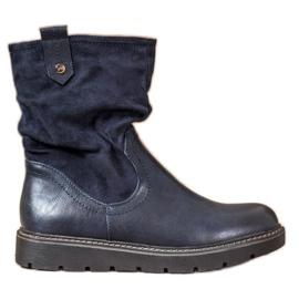 Ideal Shoes Platformarbejdere blå