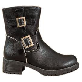 Lucky Shoes Arbejdere med spænder sort