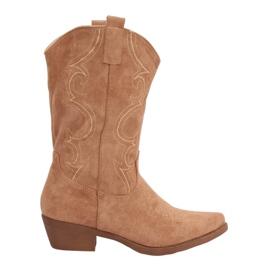 Kvinder beige cowboy støvler NC972 Khaki brun