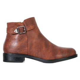 Small Swan Klassiske lave støvler brun