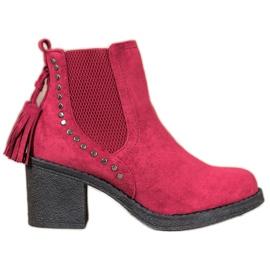 Small Swan Jodhpur støvler med kvaster rød